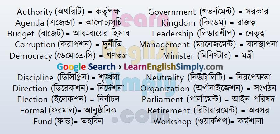 Vocabulary Administration