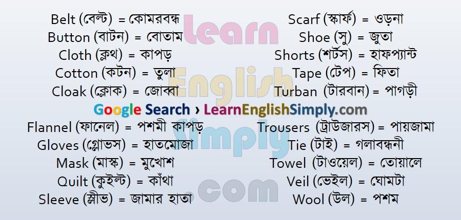 Vocabulary Dress