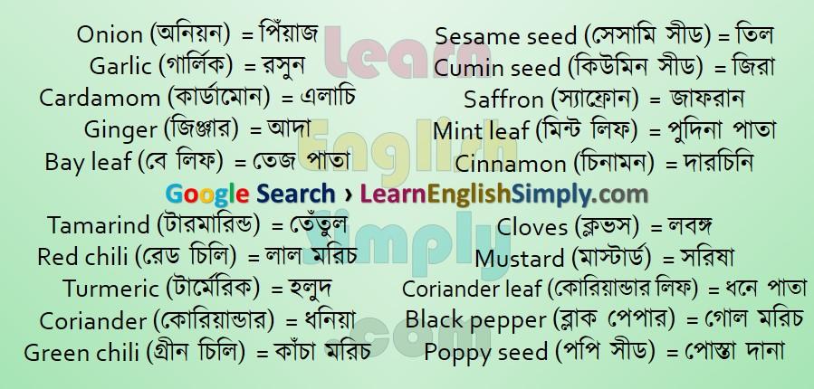 Vocabulary Spice